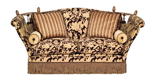 Scroll Arm Knole 2½ Seater Sofa