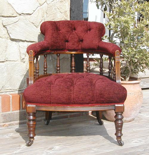 deep buttoned tub armchair stock item 2009