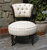 Mahogany nursing chair