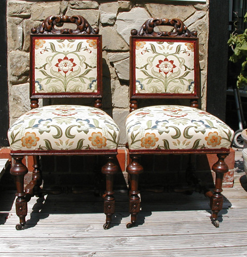 19th Century Oak Hall Chairs