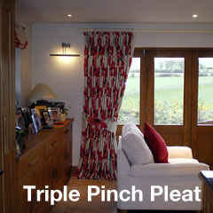 Triple Pinch Pleat Heading