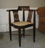 Edwardian Mahogany Corner Chair